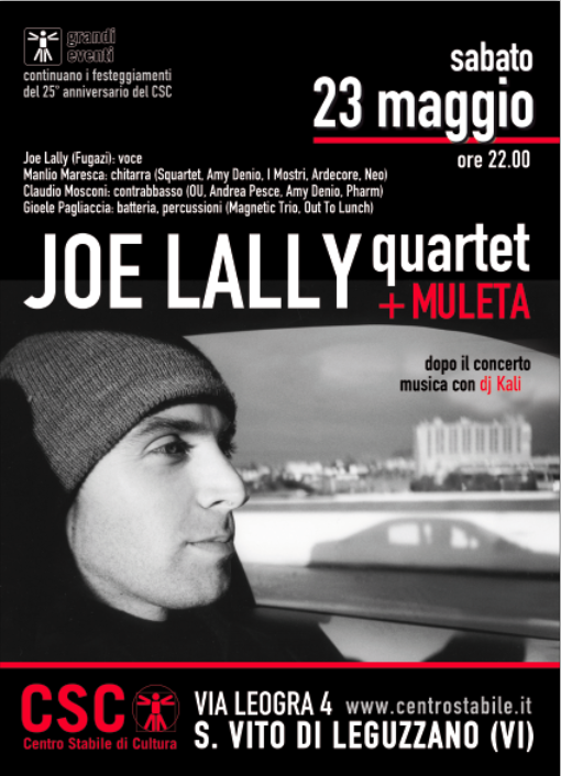 Joe Lally (Fugazi) quartet (USA/ITA) + Muleta (ITA)