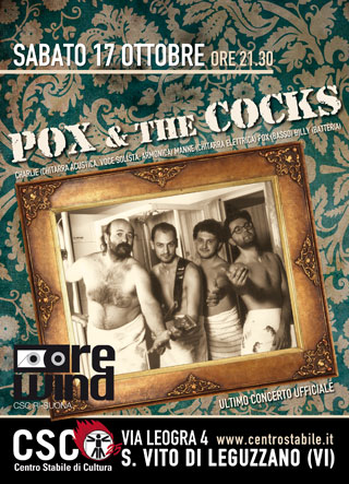 REWIND // Pox & The Cocks – Ultimo concerto ufficiale
