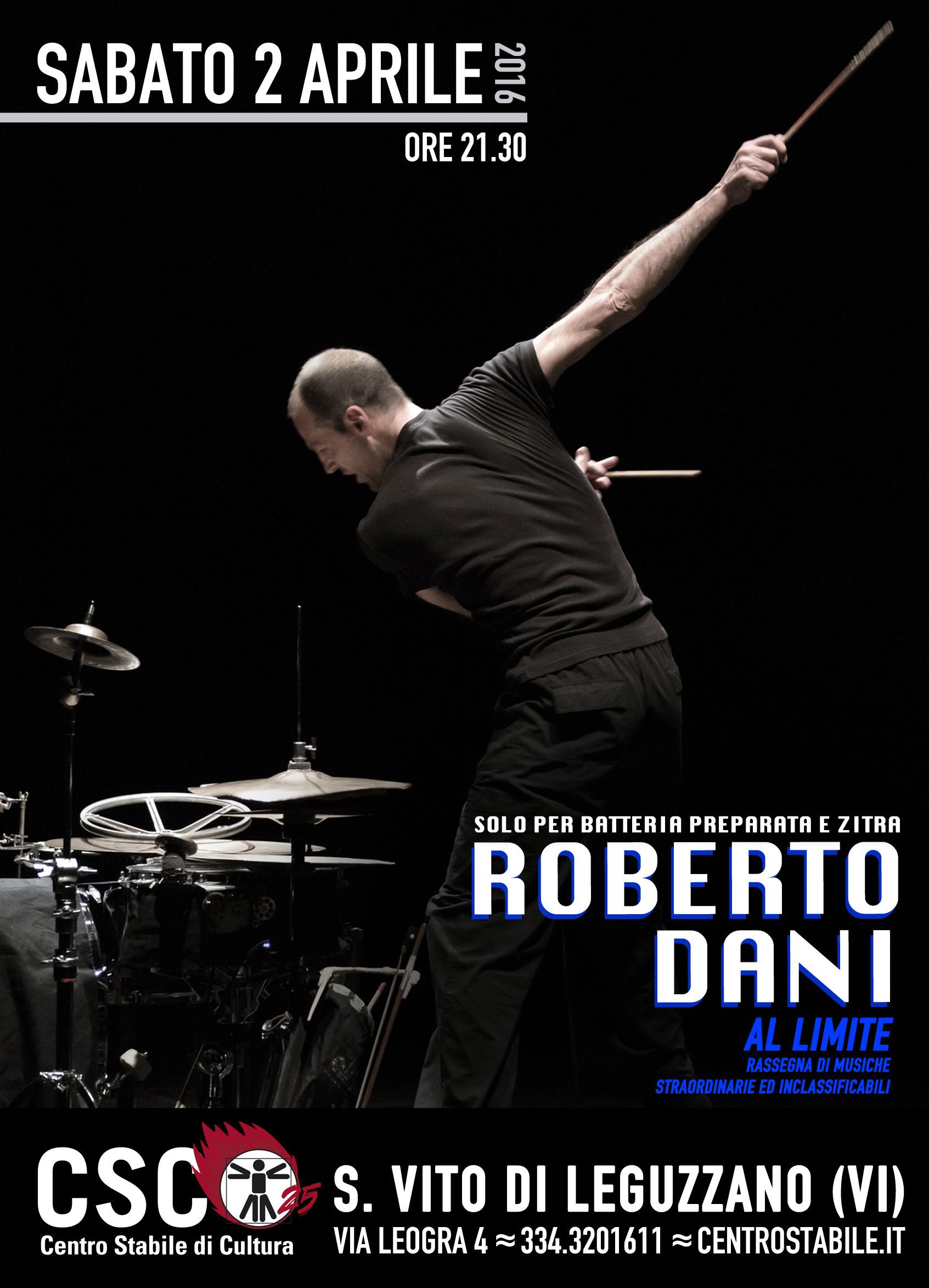 Roberto Dani solo // AL LIMITE