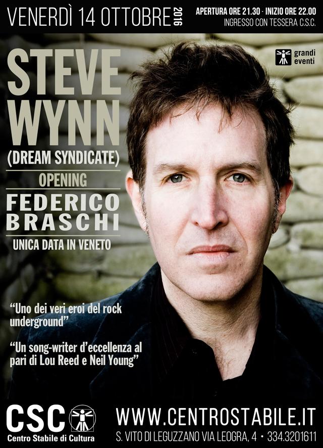 STEVE WYNN (Dream Syndicate) + Federico Braschi