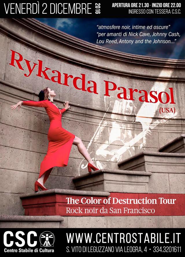 "Rykarda Parasol (USA) – ""The Color of Destruction"" Euro Tour"