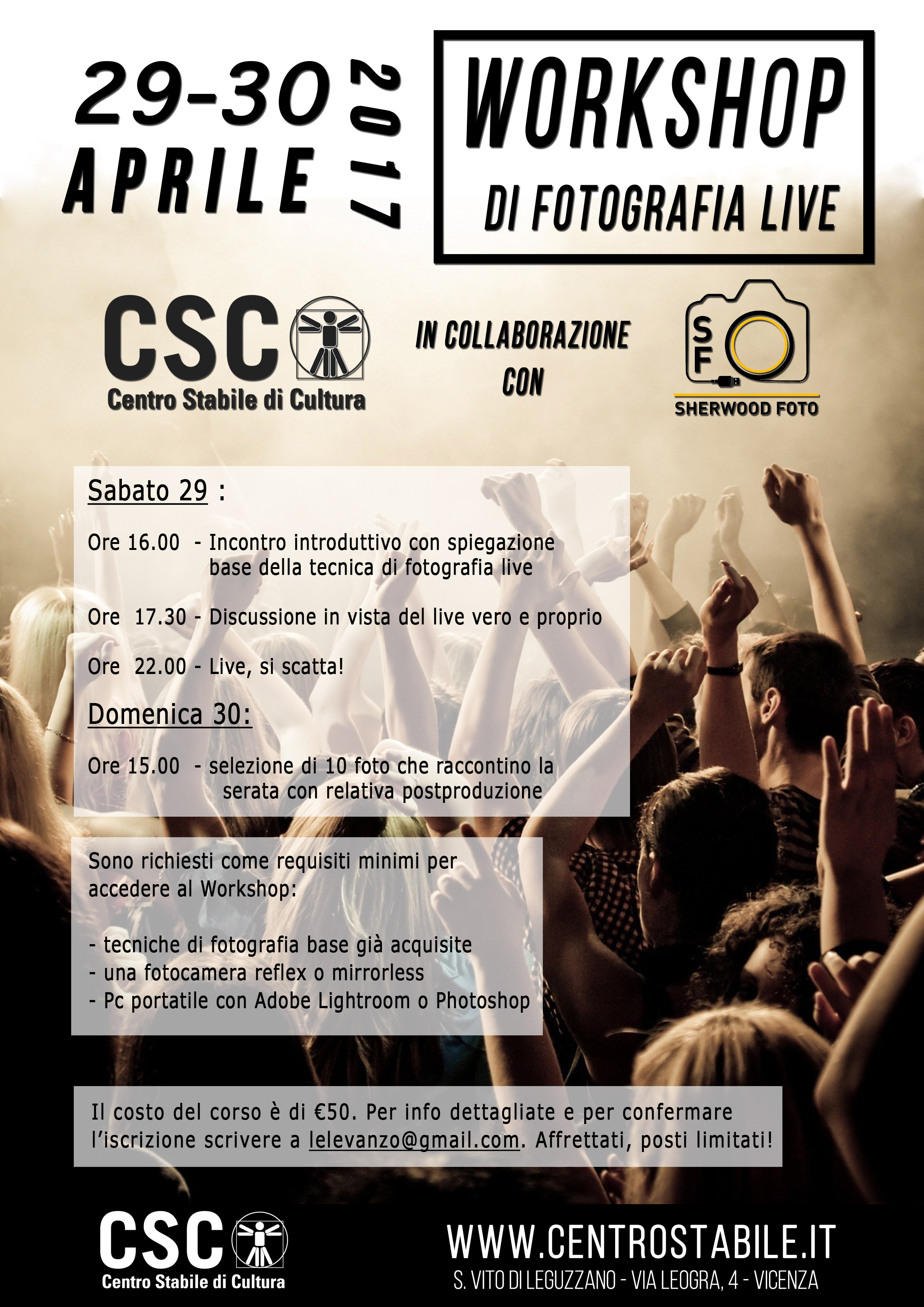 Workshop di Fotografia LIVE // 29 e 30 Aprile 2017