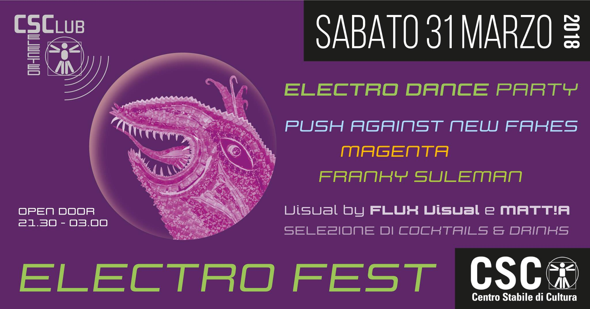 ELECTRO FEST – Push Against New Fakes, Magenta, Franky Suleman