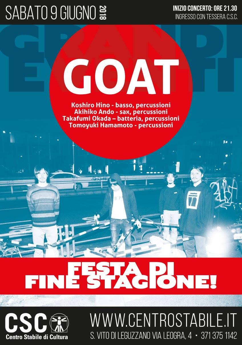 GOAT (JP) – Festa di fine stagione